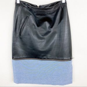 Boy. Band of Outsiders Black Leather Pencil Skirt